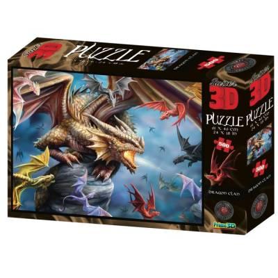 3D Пазл 500 элементов «Клан дракона» Sima-Land