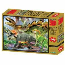 3D Пазл «Прогулка с динозаврами», 500 элементов Sima-Land