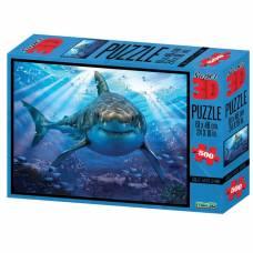 3D Пазл «Большая белая акула», 500 элементов Sima-Land