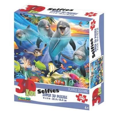 3D Пазл 50 элементов «Игривые дельфины» Sima-Land