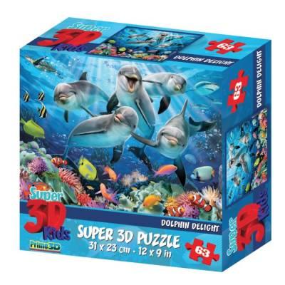3D Пазл «Дельфиний восторг», 63 элемента Sima-Land