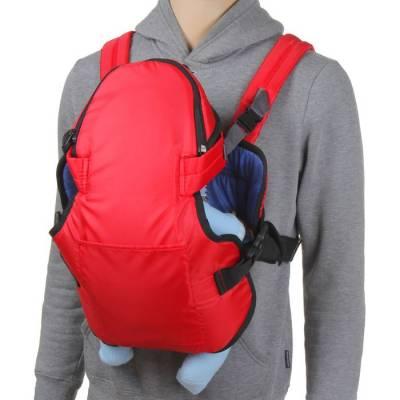 Рюкзак-кенгуру «Сидим и лежим», цвет красный Божья коровка