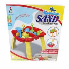 Игровой набор Sand - Стол-песочница с аксессуарами, 14 предметов Shantou
