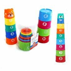 Круглая пирамида-чашечки Baby Toys, 9 предметов Shantou
