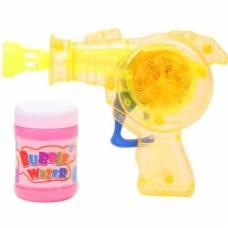 Бластер с мыльными пузырями (свет), желтый, 50 мл Shantou