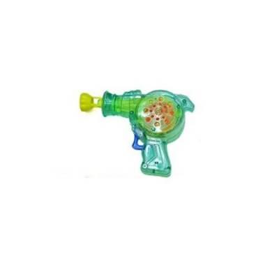 Бластер с мыльными пузырями (свет), зеленый, 50 мл Shantou