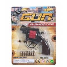 Детский пистолет-пугач Revolver Gun с пульками, 8 зарядов