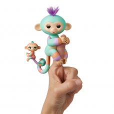 Интерактивная ручная обезьянка Fingerlings - Денни с малышом WowWee