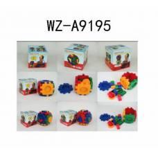 Игрушка для малышей. Кубик развивающий, в наборе 18 деталей, 11х11х10,50 см Junfa Toys