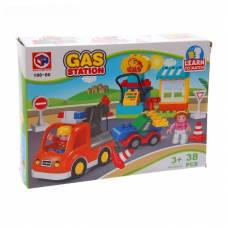 Конструктор Learn to Match - Заправочная станция, 38 деталей  Kids Home Toys