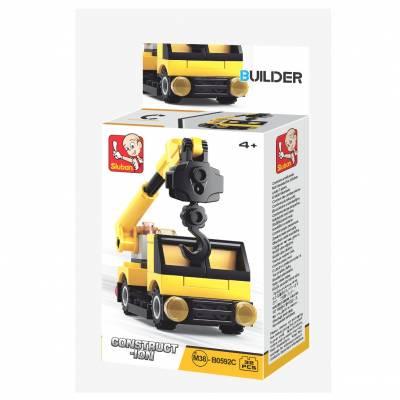 Конструктор Builder - Машина-кран, 32 детали Sluban