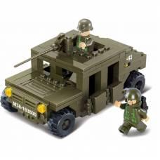 Конструктор Land 2 Forces - Военный автомобиль, 175 деталей Sluban