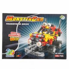 Пластиковый конструктор Monster Car 3D, 175 дет. Dragon Toyz