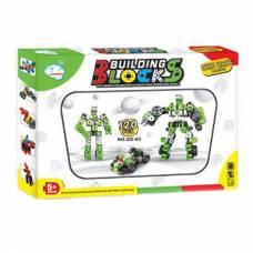 Конструктор Building Blocks, зеленый, 120 деталей