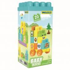 Конструктор Baby Blocks, 20 элементов Wader