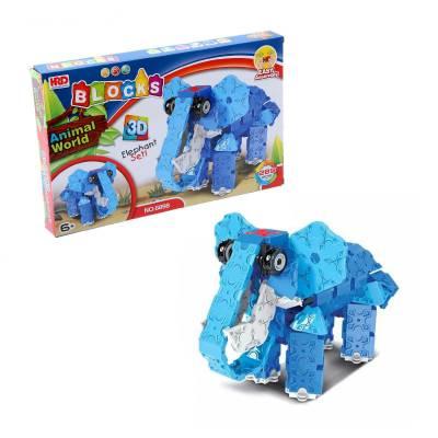 3D-конструктор Animal World - Слон, 289 деталей HRD