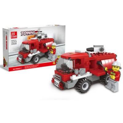 Конструктор Town - Пожарная машина, 135 деталей Jie Star