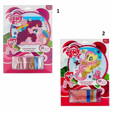 Аппликация из фольги My Little Pony, 20 листов Multi Art