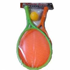 Набор для бадминтона с мячом и воланом, оранжево-зеленый Shenzhen Toys