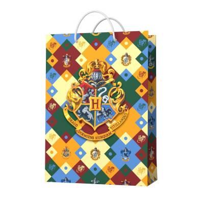 Harry Potter. Пакет подарочный малый (паттерн, Герб Хогвардс), 180*227*100 мм НД плэй / ND PLAY