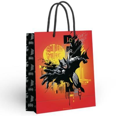 Batman. Пакет подарочный большой (оранжевый), 250*350*100 мм НД плэй / ND PLAY