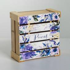 Коробка деревянная подарочная Present, 20 × 20 × 10 см Sima-Land