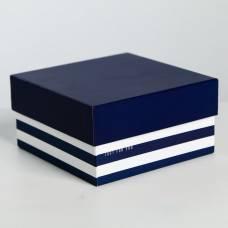 Коробка квадратная «Полоска» 14 × 14 × 7.5 см Sima-Land