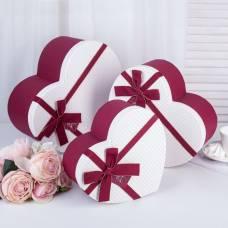 Коробка 3в1 сердце 31 х 27,5 х 14,7/27 х 24 х 13,2/22,5 х 20 х 10,2 см Sima-Land