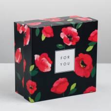 Коробка квадратная «Пышная роза», 16 × 16 × 8.5 см Sima-Land