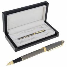 Ручка подарочная, перьевая, в кожзам футляре, бронза с золотом, «Сакура» Calligrata
