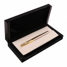 Ручка подарочная, перьевая, в кожзам футляре, «Венесуэла», корпус бежево-золотистый Calligrata