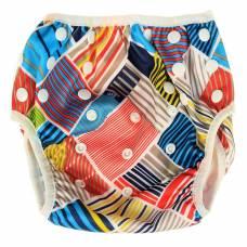 Многоразовый подгузник для плавания «Конопуша» Разноцветные клеточки, 4-18 кг Конопуша