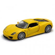 Коллекционная модель автомобиля Porsche 918 Spyder, желтая, 1:24 Welly
