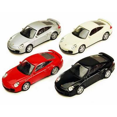Металлическая машинка Porsche 911 Turbo, 1:64 RMZ City