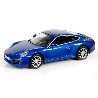 Инерционная машинка Porsche 911 Carrera S, синий металлик, 1:32 RMZ City