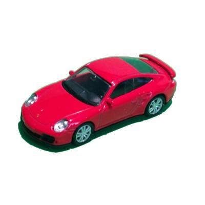 Металлическая машинка Porsche 911 Turbo, красная, 1:64 RMZ City