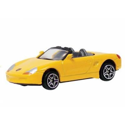 Коллекционная машинка Porsche Boxster, желтая MotorMax