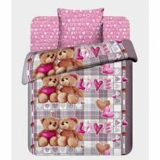 Детское постельное бельё 1,5 сп. «Любимый мишка» Василек