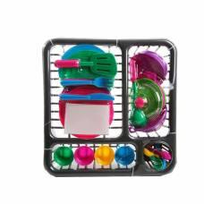 Набор игрушечной посуды в лотке