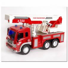 Инерционная пожарная машина (свет, звук), 1:16 WenYi