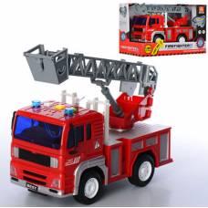 Инерционная пожарная машина (свет, звук), 1:20 WenYi
