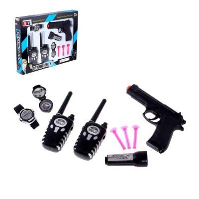 Набор шпиона «Спецагент»: 2 рации, пистолет, часы, фонарик, компас Sima-Land