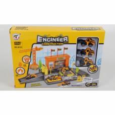 Игровой набор с аксессуарами Engineer Construction - Стройплощадка с машинами
