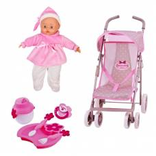 Игровой набор Bambolina Boutique - Прогулочная коляска с куклой Dimian