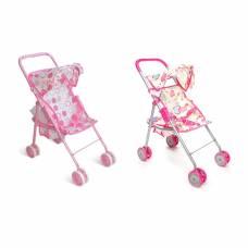 Прогулочная коляска для кукол с козырьком, розовая 1TOY