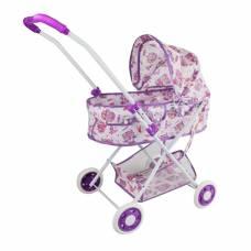 Коляска-люлька Совушка с корзиной, металл, пакет Наша игрушка