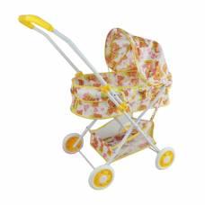 Коляска-люлька Мишка с корзиной, металл, пакет Наша игрушка