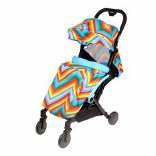 Прогулочная коляска Amber, цвет голубой зигзаг Sima-Land