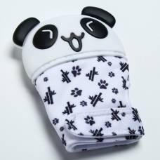 Прорезыватель рукавичка «Панда», на липучке Крошка Я