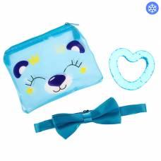 Детский набор «Для Малыша», 3 предмета: бабочка на шею, прорезыватель охлаждающий, сумочка Крошка Я